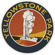 "Yellowstone Natl Park   Vintage-Looking 4"" Travel Decal"