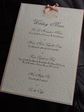 5 x Handmade Personalised Wedding Vintage Motif Table Menu Cards