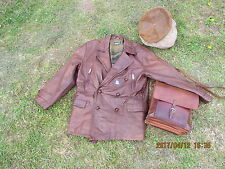 "AMERICAN  DOUBLE BREASTED THICK  FLIGHT MESSENGER JACKET 46-48"" CHEST"