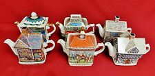 Set of 6 Enegland James Sadler Teapots