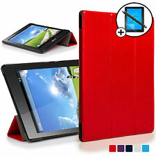 Red Smart Case Cover Shell for Acer Iconia One 7 B1-780 Screen Prot & Stylus