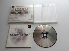 Playstation VAGRANT STORY COMPLETE Set Japan Video Game NTSC-J Sony PS1 F/S