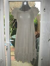FRENCH CONNECTION TAUPE FRILL DRESS - SIZE S - BNWT