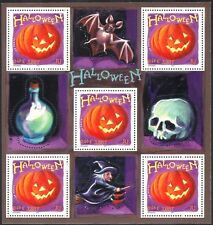 France 2001 Halloween Greetings/Pumpkin/Bat/Witch/Skull/Animation 5v sht n37367q