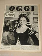 OGGI=1958/17=AVA GARDNER COVER MAGAZINE FILM LA MAJA DESNUDA THE NAKED MAJA=