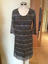 James Lakeland Dress Bnwt Size16 Brown Beige Animal Print RRP £159 Now £56
