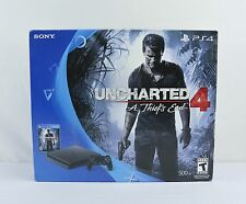 NEW Sony Playstation 4 Slim 500GB Jet Black Uncharted 4 A Thief's End Bundle PS4