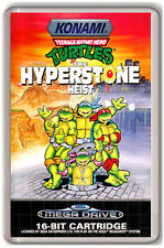 NINJA TURTLES HYPERSTONE HEIST SEGA MEGA DRIVE FRIDGE MAGNET IMAN NEVERA