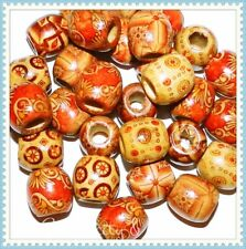 Mixed Large Painted Wood Spacer Beads 12x11mm -50pcs in Pack USA FREE SHIPPING!