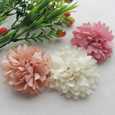 9pcs 75mm Big Ribbon Flowers Bows Rose Wedding Craft Decor Appliques MIX Lot