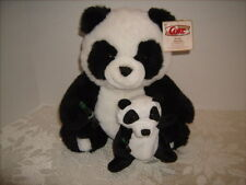 "Coca Cola Plush Panda with Baby Holding Bottles of Coke 12"" NEW with TAGS"