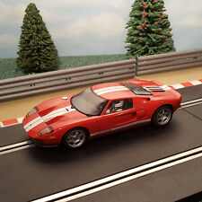 Scalextric 1:32 Auto-ROSSO FORD GT40 da Top Gear Set luci * * #M