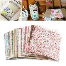 100Pcs Square Floral Cotton Fabric Patchwork Cloth For DIY Craft Sewing 10x10cm