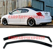 For 05-10 Scion tC Gen 1 In Channel Smoke Tint JDM Side Window Visors Rain Guard