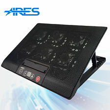 "ARES N8 6 Fans Black Laptop Cooler Stand For 15.4"" 15.6"" 17"" inch Cooling Pad"