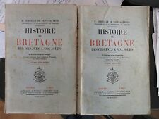 E. DURTELLE DE SAINT-SAUVEUR HISTOIRE DE LA BRETAGNE 1936 COMPLET DES 2 TOMES