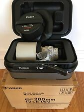 Canon EF 200mm 200 f/2L f/2.0 f2.0L f2L IS USM Image Stabilized.