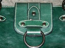 WILSON'S LEATHER SATCHEL SHOULDER BAG HAND BAG IN BRILLIANT FOREST GREEN COLOR