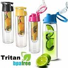 800ml Sports Fruit Infuser Water Bottle Infusion BPA Free Detox Drink Juice Cup