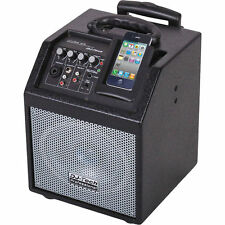 ENCEINTE SONO PORTABLE MOBILE AMPLIFIEE 50W SUR BATTERIE SUPPORT IPHONE IPOD
