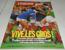 EQUIPE MAGAZINE N°581 1993 RUGBY XV FRANCE AJAX-AUXERRE WHITAKER TIOZZO BOXE