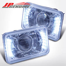 4X6 CHROME HOUSING DIAMOND CUT LED PROJECTOR HEADLIGHTS - UNIVERSAL