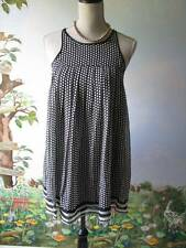 The Limited Women Black & White  Polka Dot Sleeveless Silk Dress SZ XS NWT