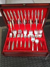 HUGE 60 PC 2760 GRAMS ONEIDA TWILIGHT STERLING SILVER FLATWARE SET + CHEST