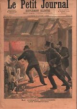 Arrestation Anarchiste Ananarchie Police Policiers France 1893 ILLUSTRATION