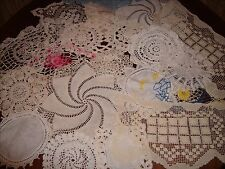 Vintage- Antique Crocheted Doilies lot of 19