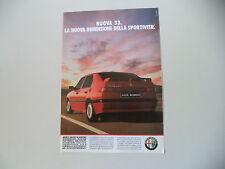 advertising Pubblicità 1990 ALFA ROMEO 33 BOXER 16V QUADRIFOGLIO