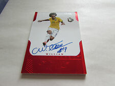PANINI FLAWLESS 2015, RUBY AUTOGRAPH CARD, 12/15, SIGNED BY WILLIAN, BRAZIL