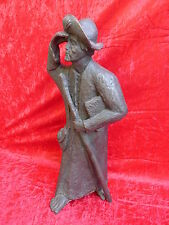 beautiful,size Artist Bronze__Mann with Walking stick .Signed__ü. 12,5kg