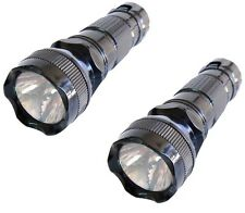LOT OF 2 ULTRAFIRE PORTABLE LED FLASHLIGHT TORCH LIGHT LAMP HIKING HIKER CAMPING