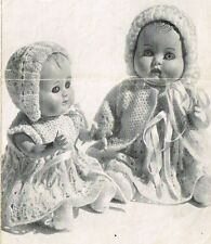 "Dolls clothes knitting pattern for  7"" & 10"" Baby doll.   ( V Doll 58)"