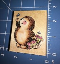 Penny Black BUTTERFLY HEDGEHOG Wood Mounted Rubber Stamp New