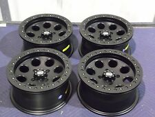 "14"" SUZUKI KING QUAD 750 BEADLOCK BLACK ATV WHEELS NEW SET 4 -LIFETIME WARRANTY"