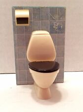 Vtg Lundby Doll House Bathroom Toilet and Paper Roll