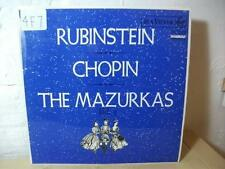 SB 6704 CHOPIN The Mazurkas Vol 3 RUBENSTEIN RCA RED DOT STEREO LP EX