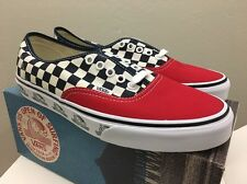 Vans Authentic US Open Surf 2016 Checkerboard Red Blue Men's 9