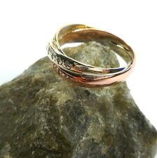 3er Ring GOLD Gelbgold Weißgold Rosegold 57 (18,1 mm Ø) 333/8k mit Brillanten