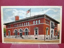 2 Postcards OH Akron Post Office Views in 1905 & 1919
