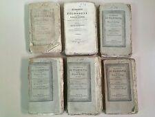 Elementi di Filosofia di Pasquale Galluppi Ed.Tramater Napoli 1840 6 volumi