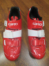 GIRO FACTOR ACC EASTON EC90 CARBON ROAD CYCLING SHOES EURO 45.5 RED & WHITE