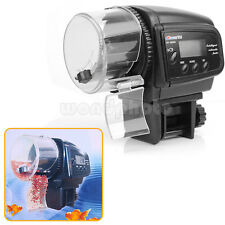 Hot Sell Digital LCD Aquarium Feeder Timer Feeding for Fish Tank Black