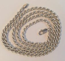 Vintage Milor Italy Sterling Silver 925  Chain Necklace 36 Inches