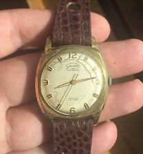 grandia AUTOMATIC ETA 2375 Gold Plated G20 25 RUBIS RUNNING vintage Watch