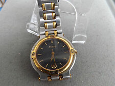 Retro Men's Black Dial Gucci Watch With Date - Gold And Stainless Case + Band