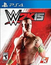 WWE 2K15 (Sony PlayStation 4, 2014) wrestling video game (PS4) WWF adult owned