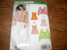New Look TOPS 5 Designs Sewing Pattern 6600 Size 10-22 Uncut
